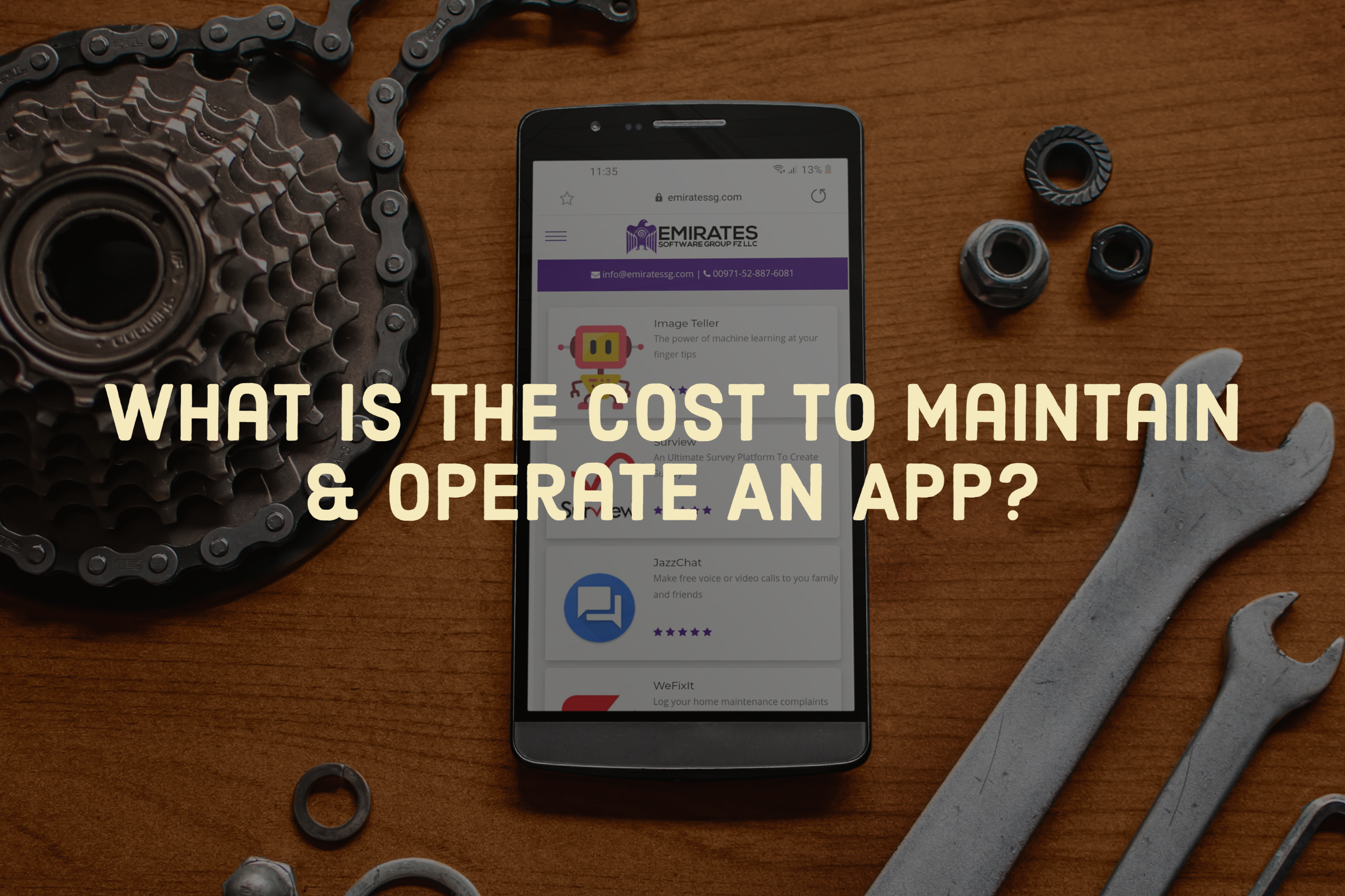 What is the cost to maintain and operate an app